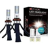 LED Headlight Bulbs Conversion Kit - 4WDKING H11/H8/H9 Fanless Copper Braid Heat Dissipation Super Bright Low Beam Fog Light