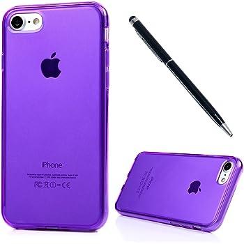 9be1f83e9d iPhone7 (4.7インチ)用ケース おしゃれ Vivagaga TPU構造 防塵/耐衝撃 脱着簡単 保護キャップ 対応 ソフトケース  スマホカバー 紫