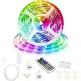 5M Led Strip Lights 44 Keys RF Remote Controller Color Changing Led Strips for Bedroom Kitchen TV Desk Party Wedding