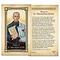 聖Maximilian KolbeラミネートHolyカード–パックof 10