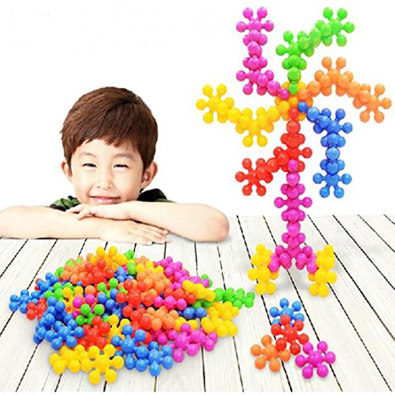 ColorGo ブロック セット 子ども プラスチック 積み木 子供おもちゃ 女の子 男の子 立体パズル