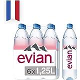 Evian Natural Mineral Water, 6 x 1.25l