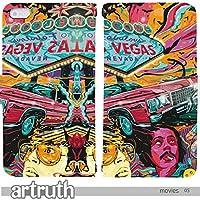 movies art 手帳型 iPhone5/5s (iphone 5/5s) (G009201_05) 専用 映画 Fear and Loathing in Las Vegas ラスベガスをやっつけろ pop art センス 個性的 スマホケース