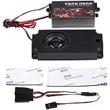 ラジコン サウンド ラジコンエンジンサウンド ラジコン ボディシェルに取り付け 使いやすい 音量調節可能 騒音減少 サウンド10種収録 2.4G独立受信機サポート カー用ボディパーツ・シャーシ 1/10 RCモデルカーに対応 (ブラック)