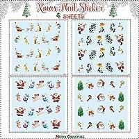 クリスマス Xmas 四枚セット・ネイルアートネイル用水転写シートシール・デカルステッカー ネイルシールセット ネイルステッカータトゥーシール - StickerCollection