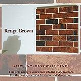 ファブリックパネル Renga Brown 30×30×2.5cm 単品販売 ブラウン レンガ インテリア 北欧 お洒落インテリア お家カフェ 同梱可