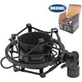 Weymic Black Universal Microphone Shock Mount for Large Diameter Condenser Microphone,Metal Construction