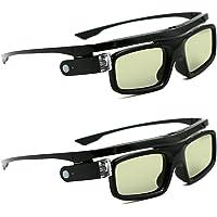 3Dメガネ、3D DLP-Linkプロジェクター用アクティブシャッター充電式アイウェアAcer、BenQ、Optoma…