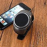 YideaHome 腕時計スタイルスピーカー FMラジオ付き多機能ワイヤレススピーカーウォッチポータブルスポーツ音楽ウォッチ + MP3音楽プレーヤー+ TFカードプレイ+ハンズフリー通話+自分撮りシャッター