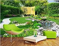 Bzbhart 3Dの 壁紙シルク壁画川の風景庭園の装飾絵画 の壁の壁画の壁紙-120cmx100cm