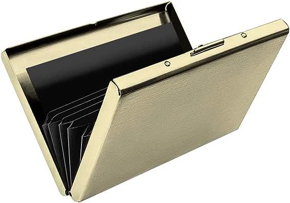 TINHAO クレジットカードケース RFIDブロック スキミング防止 磁気防止 ステンレス製 カードケース 6枚収納 シルバー/ブラック/ローズゴールド/ゴールド