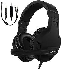 NUBWO PS4ヘッドセット ゲーミングヘッドセット高音質 密閉型オンイヤーヘッドホン 大型マイク ゲーム用ヘッドセットfor PC、Xbox One S、ps4、ps4 Pro、Mac、モバイル、VR -3.5mm (ブラック)