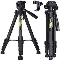 Endurax 三脚 スマホ三脚 ビデオ カメラ三脚 全高168cm アルミ製 4段階伸縮 360°回転三脚 iphon…
