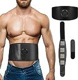 (2020年最新式)腹筋ベルト EMS 筋トレ ジェルシート不要 USB充電式 ダイエット 腹筋パッド 男女兼用 脂肪燃…