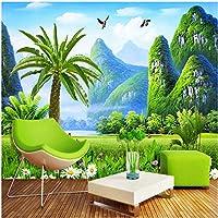 Xbwy カスタムサイズ壁画壁紙3D自然風景壁画リビングルームテレビソファの背景の壁の家の装飾-200X140Cm