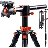 K&F Concept カメラ三脚 一眼レフ 三脚 170cm アルミ製 5段 一脚可変 中心軸横断 軽量 コンパクト…