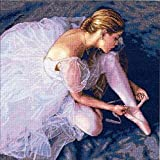 """Gold Collection Ballerina Beauty Counted Cross Stitch Kit-14""""X14"""" 18 Count (並行輸入品)"""