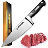 STEINBRÜCKE Chef Knife 6 inch, Pro Kitchen Knife Forged from German Stainless Steel 5Cr15Mov (HRC58), Full Tang, Ultra-sharp