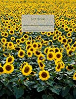 """Notebook: Composition Notebook. College ruled with soft matte cover. 120 Pages. Perfect for school notes, Ideal as a journal or a diary. 9.69"""" x 7.44"""". Great gift idea. (Sunflowers cover)."""