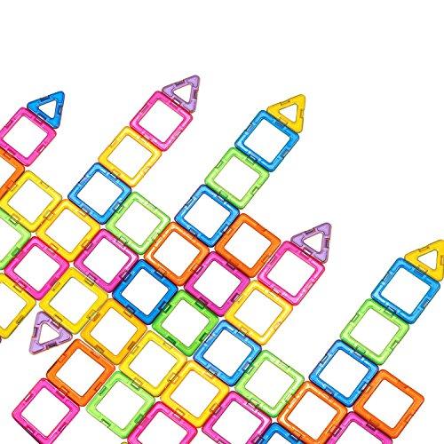 [ニューアイランド]Newisland Magnetic Blocks, 40Pcs Set Kids Magnet Construction Toys Rainbow Color f...