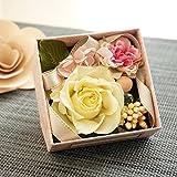 【ベルシック】 プリザーブドフラワー ローズジュエル・イエロー BOXタイプ 枯れないお花 お祝・お見舞い 母の日 プチギフト  (イエロー)