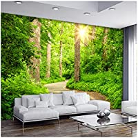 山笑の美 壁紙3Dステレオツリーパス風景の壁紙リビングルームのソファテレビの背景壁画モダン寝室ベッドサイド壁紙-120X100CM