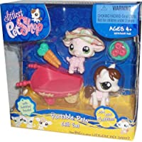 Littlest Pet Shop Exclusive Cuddliest Portable Gift Set Pink Sheep & Horse by Hasbro [並行輸入品]