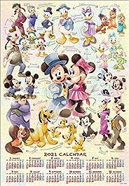 1000ピース ジグソーパズル ディズニー Mickey&Friends(2021年カレンダージグソーパズル) (51x73.