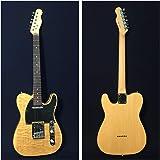 Haze HSTL 19100BNA Thru Solid Body Electric Guitar,S-S,Ash Burl Top+Free Gig Bag