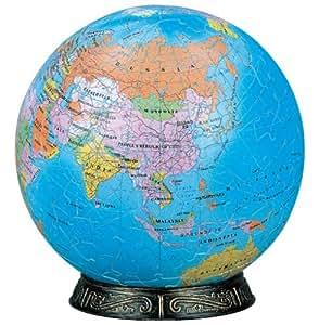 3D球体パズル 240ピース 地球儀 (英語版) 2024-102 (直径約15.2cm)