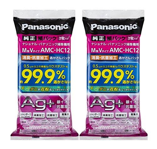 【まとめ買いセット】パナソニック 交換用逃がさんパック 消臭・抗菌加工 M型Vタイプ 6枚入り AMC-HAC12 [フラストレーションフリーパッケージ (FFP)]