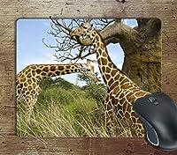 Giraffe Africa-コンピューター滑り止めマウスパッドマウスパッドマウスマットマットパッドゲーム
