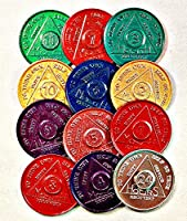 12の3セット合計36大メダル、チップ、トークン–Medallion 24hr-11mo 3各記念