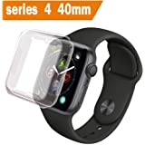 ALOUCH Case for Apple Watch Series 6 5 4 SE Screen Protector 40mm, iWatch Overall Protective Case TPU Clear Ultra-Thin Cover,