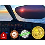 Kinder Fluff Sunshade (4X)-The only Certified sunshades to Block 99.79% of UVA & 99.95% UVB. Pilot Level Protection as Aircra