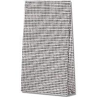 ヘイコー 紙袋 マチ付 ファンシーバッグ 4才 ギンガムミニ クロ 21x8x38.5cm 100枚