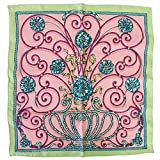 HERMES スカーフ ピンク エルメス スカーフ ハンカチ カレ40 シルク 100% JOUVENCE 青春 ピンク系 [極美品]中古