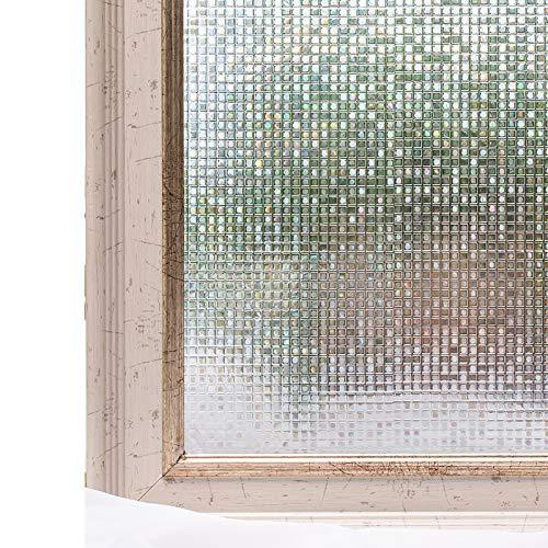 RoomClip商品情報 - CottonColors(コットンカラーズ) 3D 窓用フィルム 目隠しシート 断熱 UVカット 何度も貼直せる 窓ガラスフィルム 90x200cm [石道004]