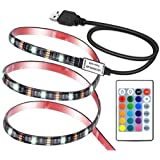 VIPMOON LED TV Backlights, Waterproof Remote Control, USB Powered 5V LED Light Strip with RF Remote for Flat Screen TV PC
