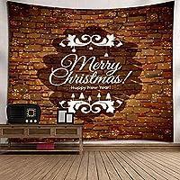 GLYY クリスマスタペストリー tv 壁掛 タペストリー 北欧 150*200 CM セット おしゃれ オーナメントインテリア 多機能 ファブリック装飾用品 模様替え 部屋 窓カーテン A11