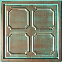 "( R 01PVCの30pc ) Alfa銅/ Patina ( 24"" x24"" PVC 16mil )天井タイル–Coversについて120sqft"