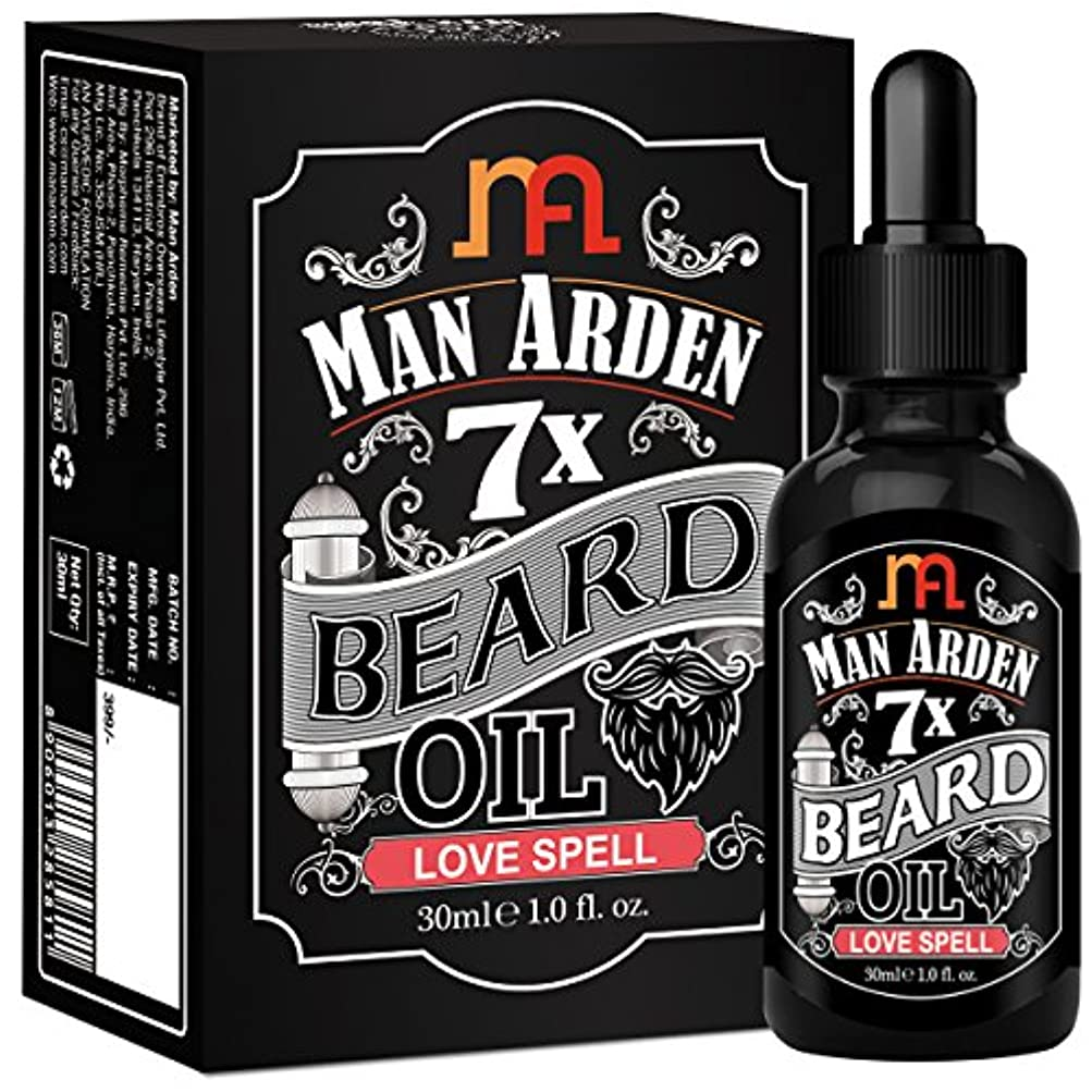 Man Arden 7X Beard Oil 30ml (Love Spell) - 7 Premium Oils Blend For Beard Growth & Nourishment