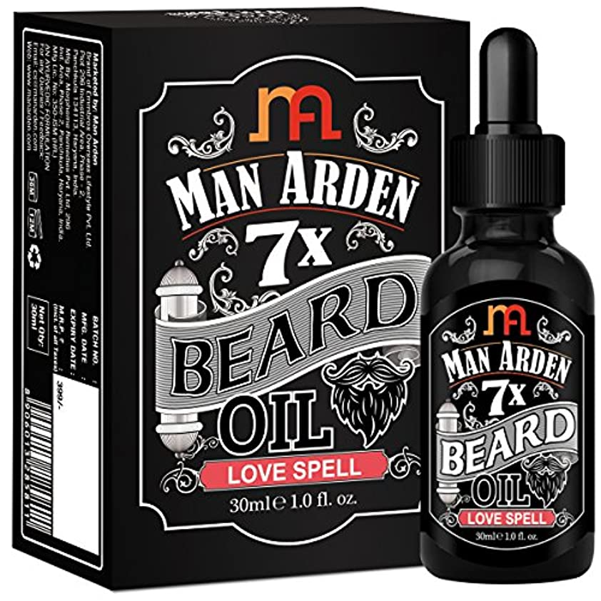 はず配当乱気流Man Arden 7X Beard Oil 30ml (Love Spell) - 7 Premium Oils Blend For Beard Growth & Nourishment