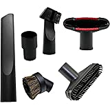 Universal Replacement 32mm (1 1/4 inch) Vacuum Cleaner Accessories Brush Kit for Standard Hose Set of 5 By Wonlives