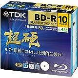 【Amazon.co.jp限定】TDK 録画用ブルーレイディスク 超硬シリーズ BD-R DL(長時間2層ディスク) 50GB 1-4倍速 ホワイトワイドプリンタブル 10枚パック 5mmスリムケース ATBRV-50HCPWB10Z