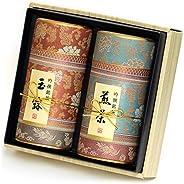 京都利休園 お茶 玉露・煎茶詰合せ 玉露80g 煎茶80g お歳暮 お茶 ギフト セット 国産 茶葉 京西陣-302 MG-302