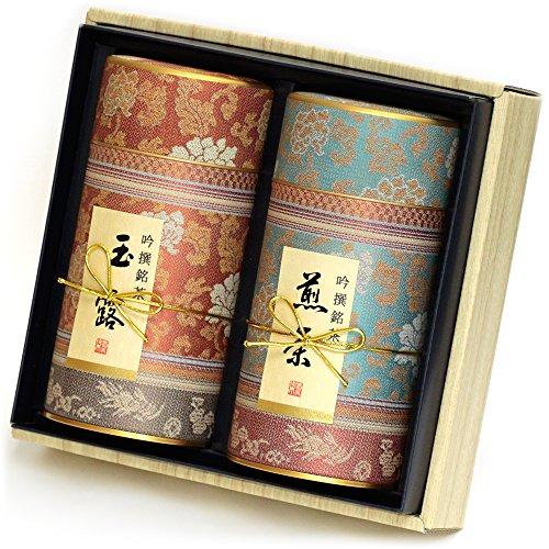 京都利休園 お茶 玉露・煎茶詰合せ 玉露80g 煎茶80g お歳暮ギフト お茶 ギフト セット 国産 茶葉 MG-302