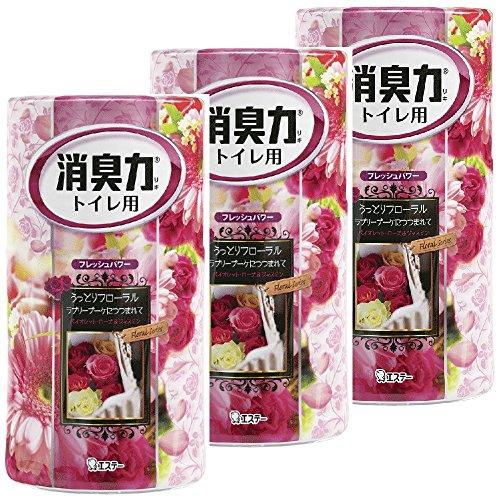 【まとめ買い】 トイレの消臭力 消臭芳香剤 トイレ用 ラブリーブーケの香り 400ml×3個