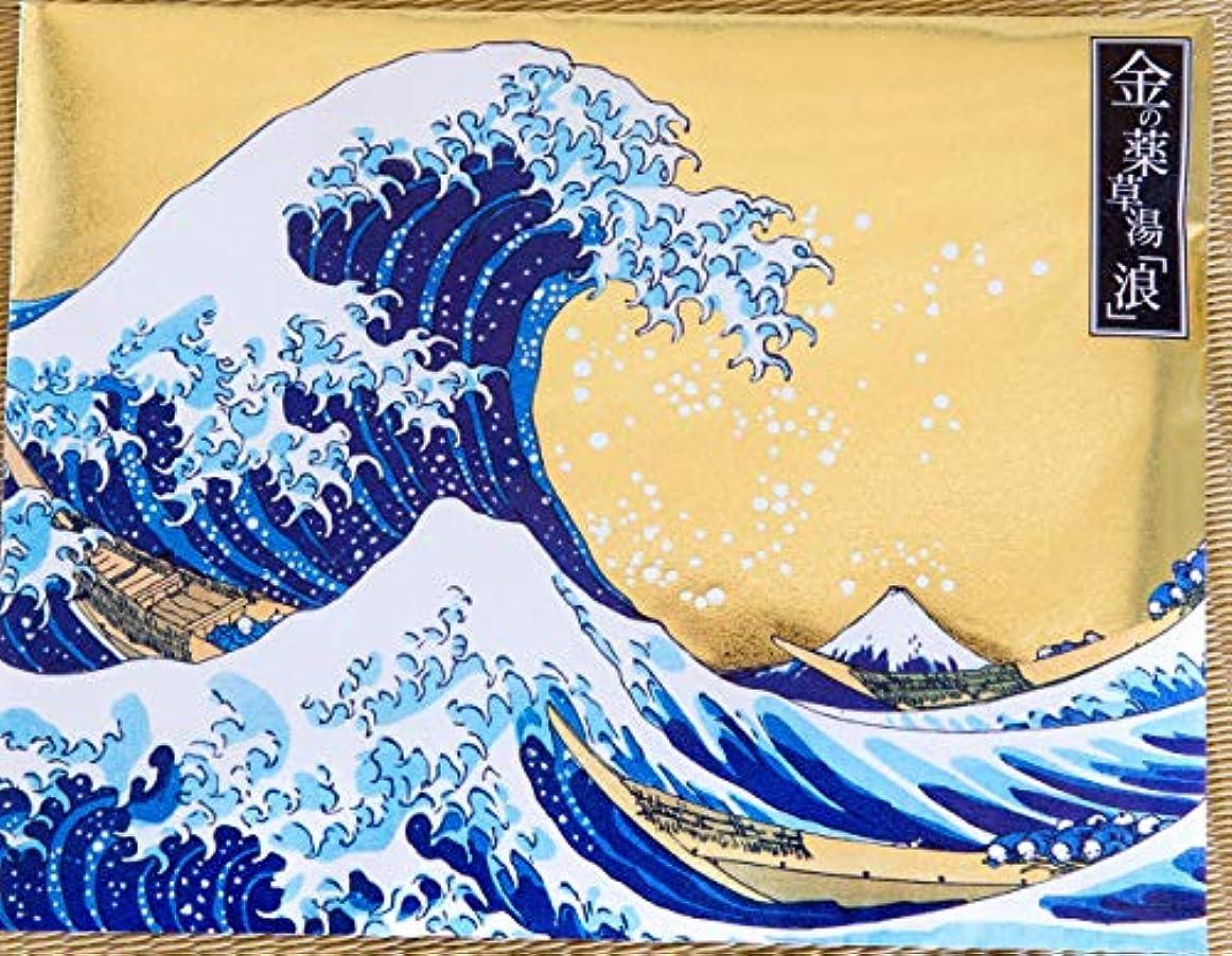キャロライン飛行機超高層ビル金の薬草湯「浪」 神奈川沖浪裏(富嶽三十六景)