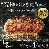 【お試しサイズ】究極のひき肉で作る 牛100%ハンバーグステーキ 200g×4個入り(プレーン200g×4)